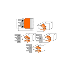 Фрезы для мебельной обвязки CMT Насадные со сменными твердыми ножами Фрезы по дереву