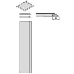 Ножи фуговальные HSS, SP и с напайкой HW 3 мм CMT Фуговальные ножи Ножи